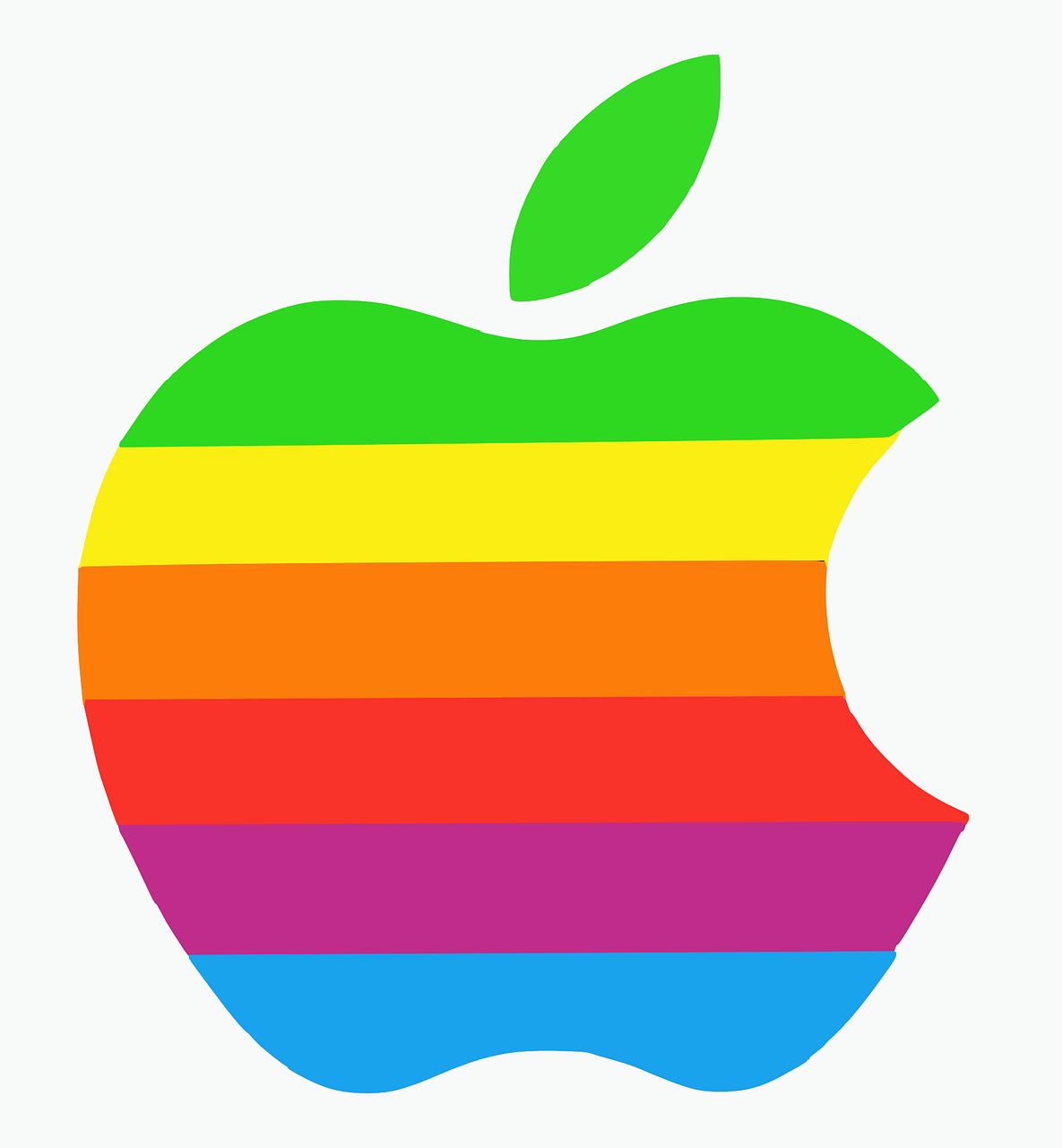 Apple Ghi Danh Bản Quyền Logo Quả Táo Cầu Vồng Nhiều Màu